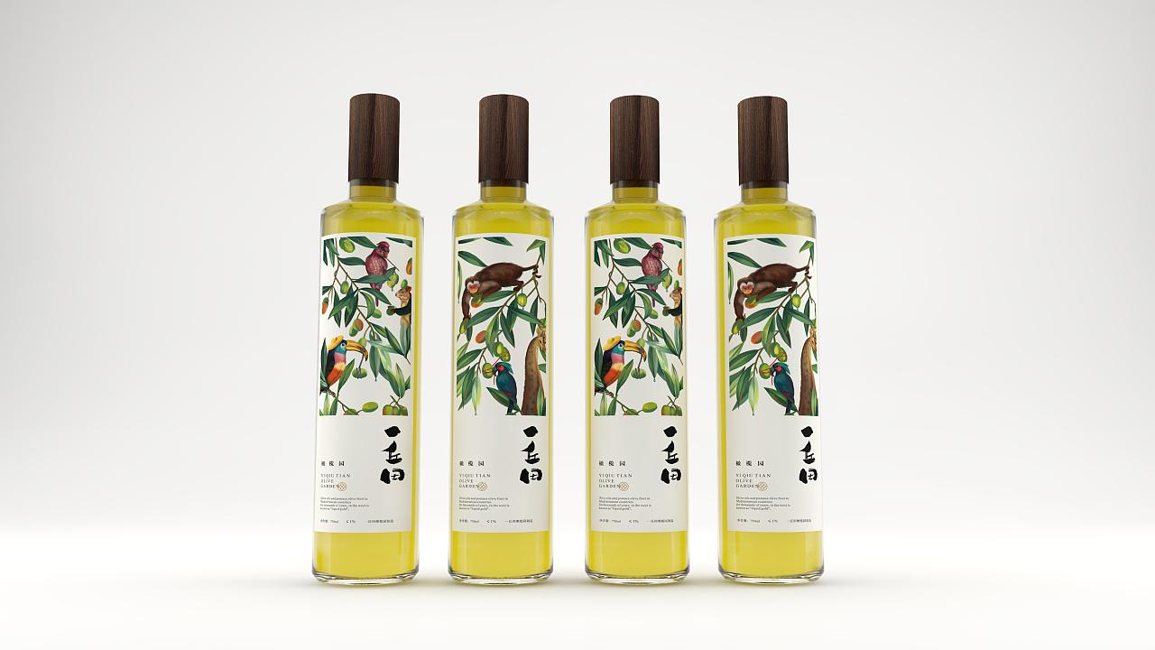 Olive Oil Packaging Design of Yoshida Olive Oil Packaging