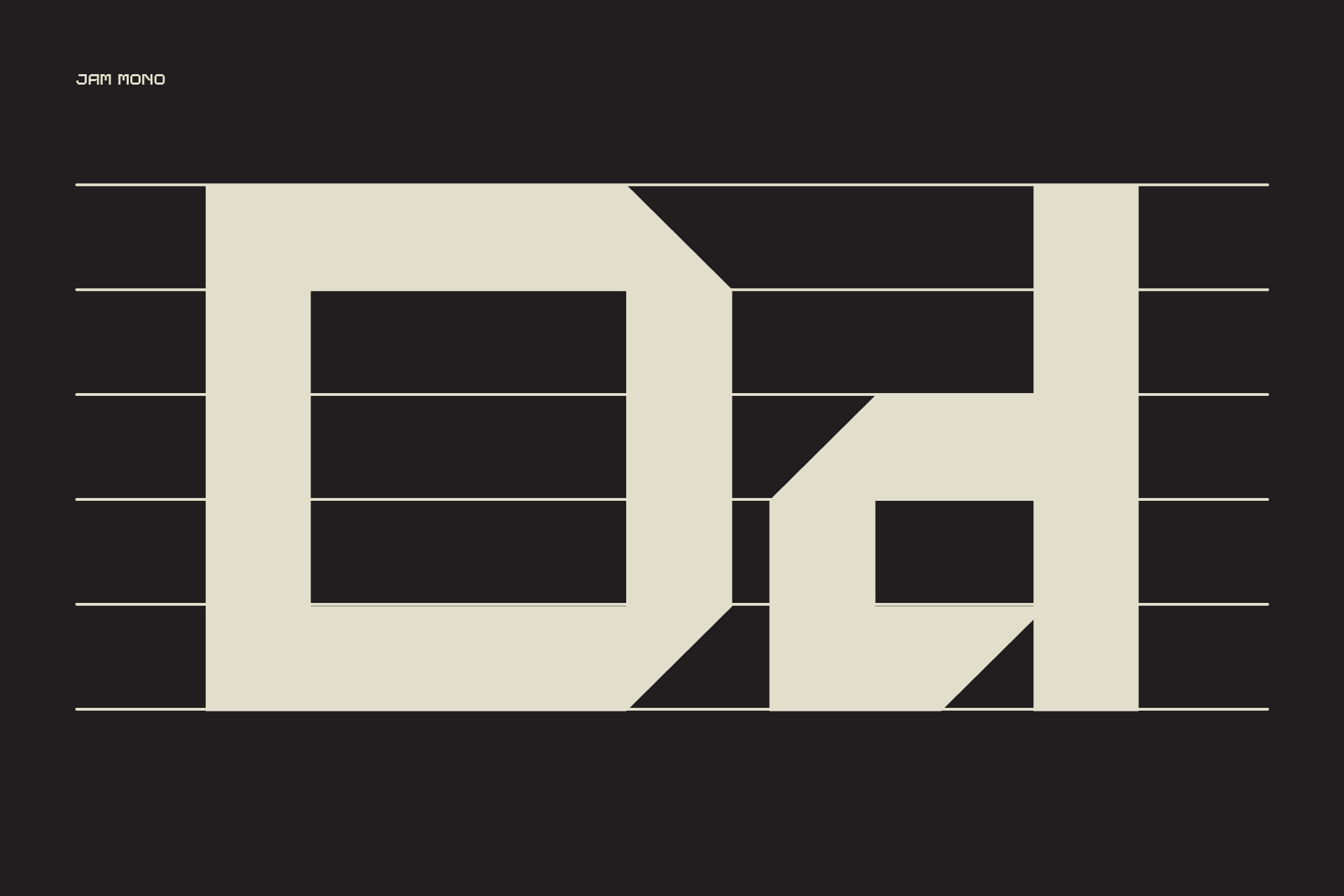 Jam Mono Regular, a simple English font