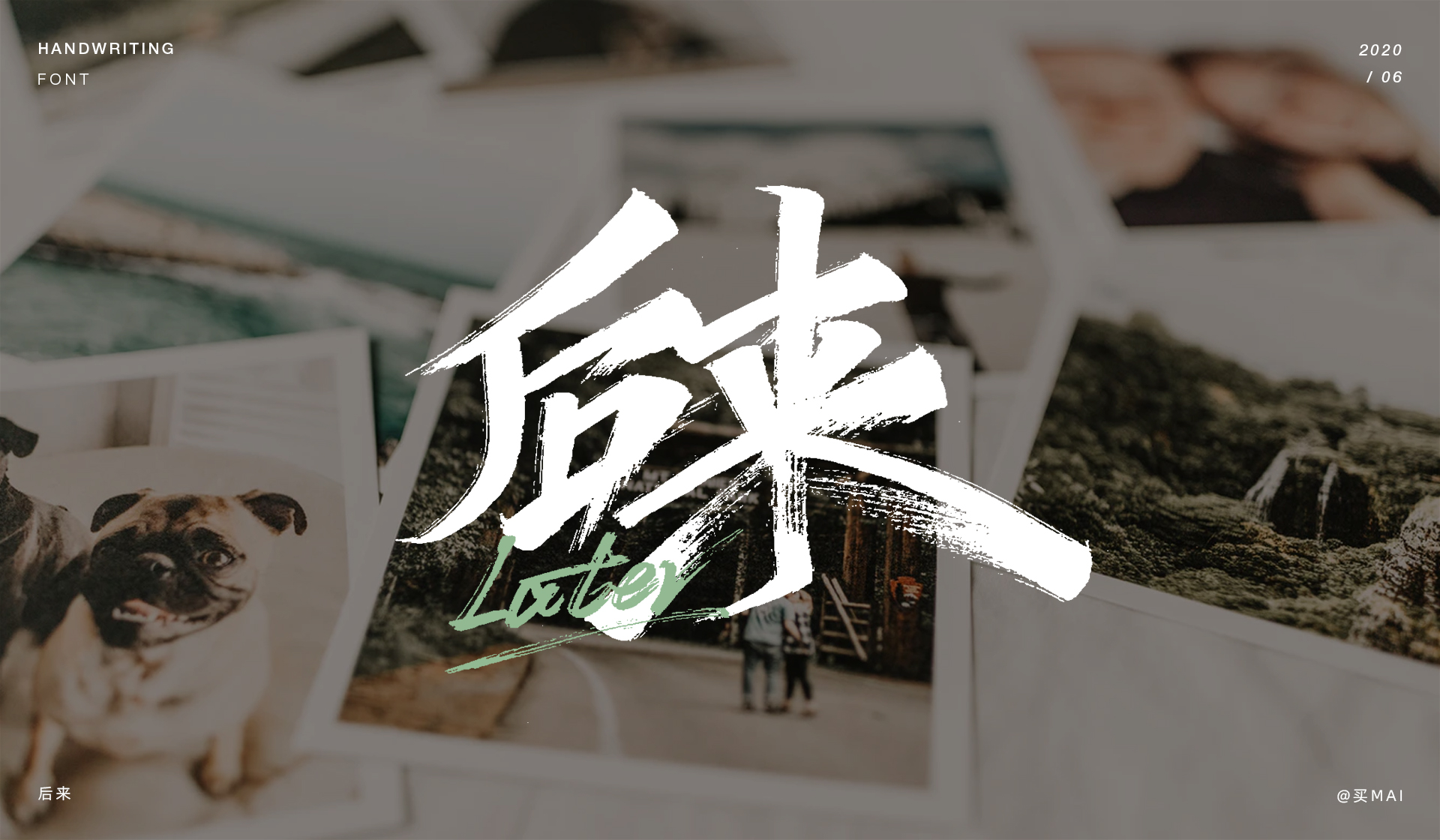 Writing brush font design combining calligraphy and painting.