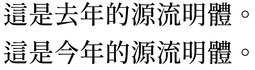 Yuanliumingfan font: free commercial Chinese font download based on Siyuan Song Style