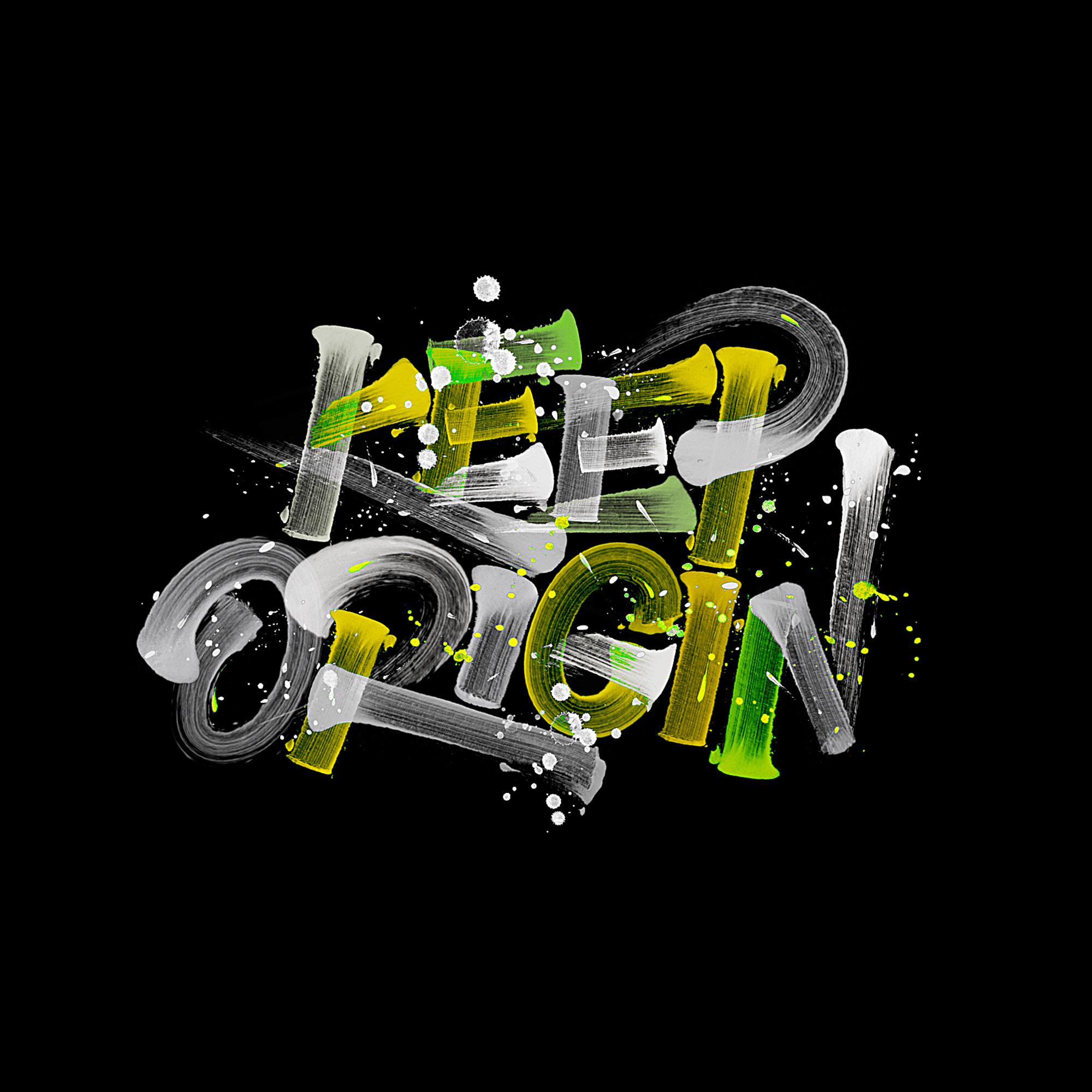 Design of splash-ink font with strong color sense